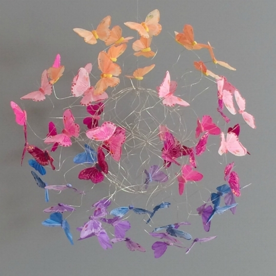 Colorful Hanging Butterfly Mobile