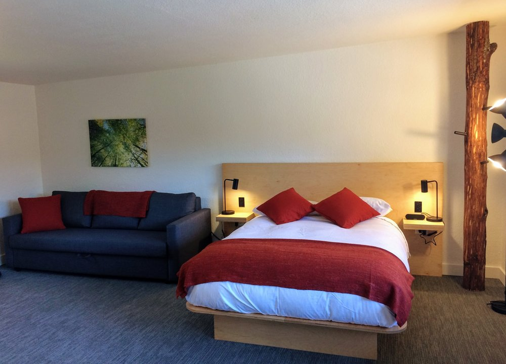 Maple (Room # 8) has a queen sofa sleeper