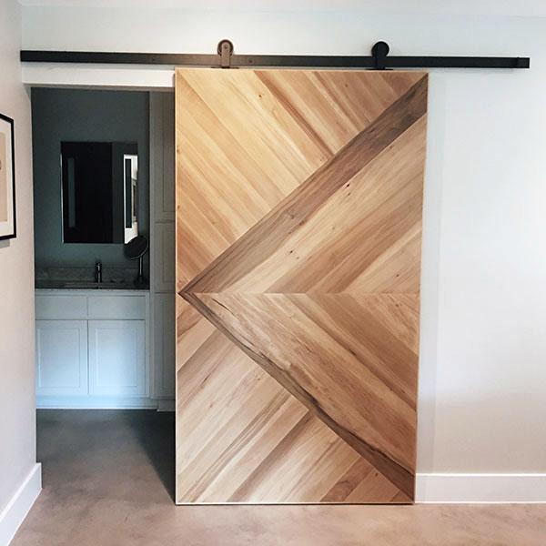 Poplar Solid Wood Sliding Door Lost Creek Residence in Austin, TX