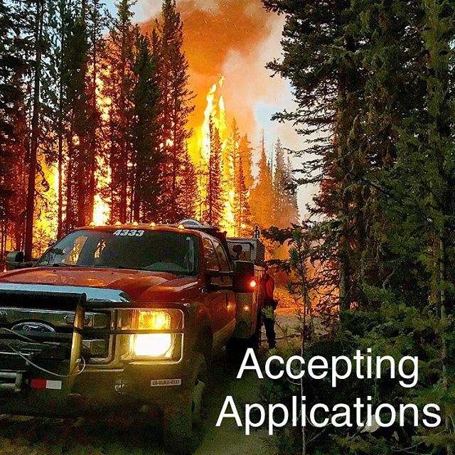 Boulder Mountain's Wildfire Crew is accepting applications for the 2019 season! Apply at our website www.bmfmitcrew.com #wildfire #firefighter #fire