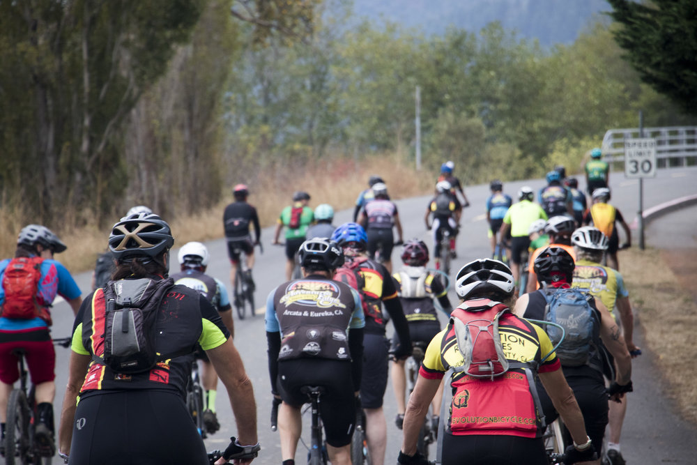 After a brief riders meeting, all of the riders took a neutral roll out from the brewery to the Green Diamond Gate at the end of Hatchery Road.