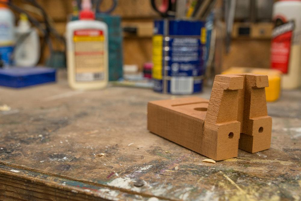 Neck block for custom handmade guitars.