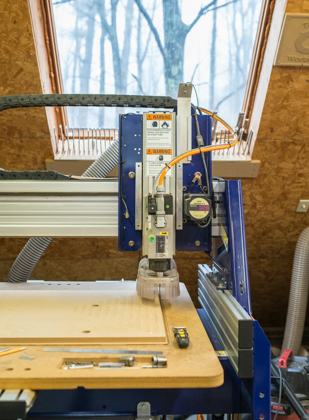 Machine used for custom handmade guitars.