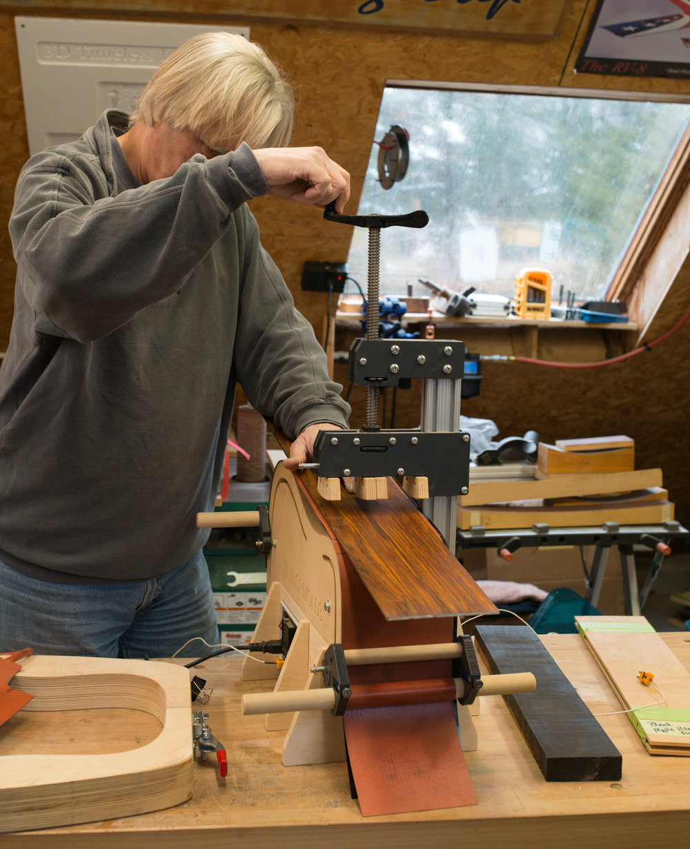 Custom handmade guitars workshop and construction.