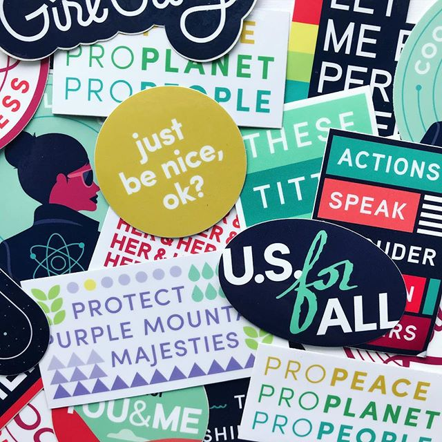 Get your sticker on, y'all ✨ Pick up some stickers and other BeNice gear in DC this Thursday at a Women's March Happy Hour, at Slipstream Navy Yard 🥂 More info on Facebook — link in bio!