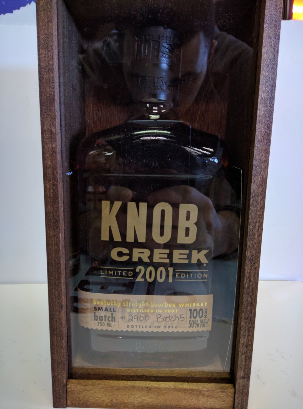 Knob Creek Limited Edition 2001 Small Batch Bourbon 15 Year