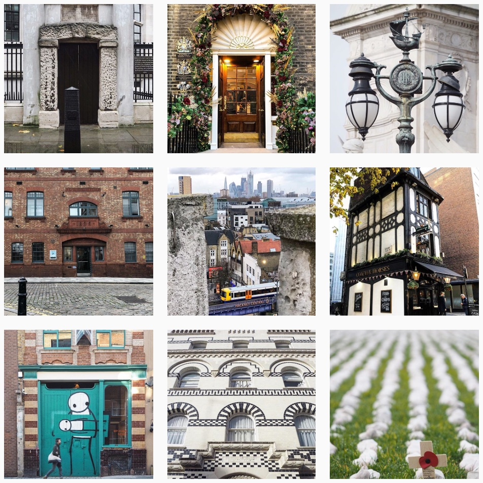 Photos from Katie's highly popular Instagram profile    @look_uplondon