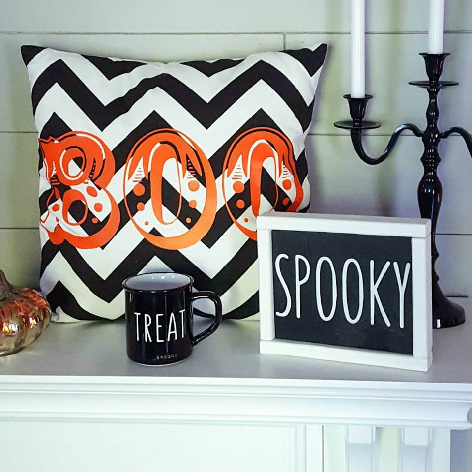 boo halloween pillow — the cozee shack