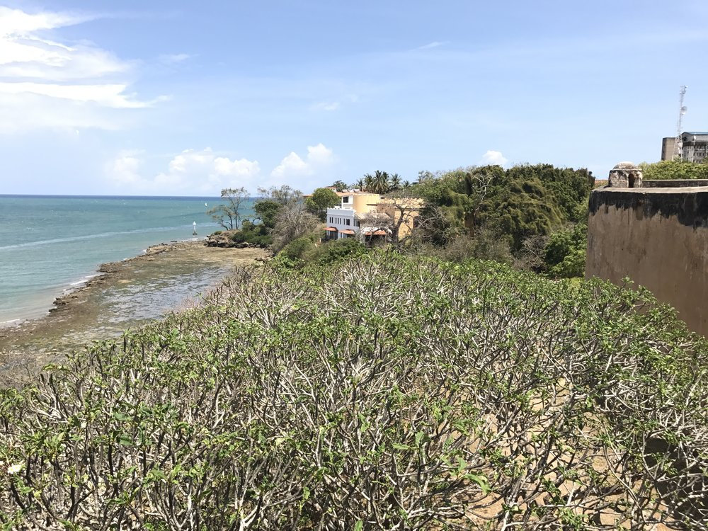 View of Mombasa from inside Fort Jesus