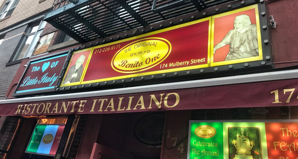 Benito One restaurant in Little Italy