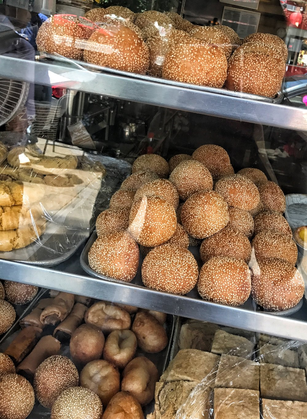 Sesame balls from a Chinatown restaurant