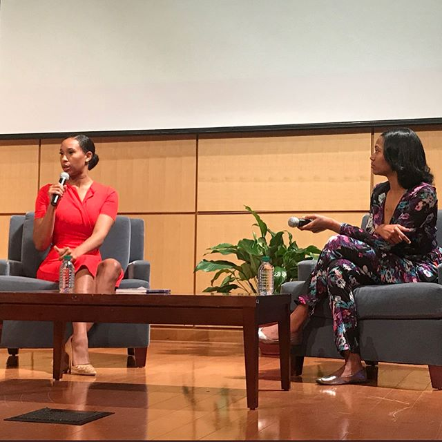 Tonight was so special! I asked @hiphopprez for an aspiring journalist to conduct my interview @dillarduniversity. Surprise it was my mentee @tassionplay! I was soooo proud of her! Thanks to @hiphopprez and @dillarduniversity for showing me so much love and asking great questions about my book and career! Do you know an aspiring journalist? Get them my book! ShebaTurk.com