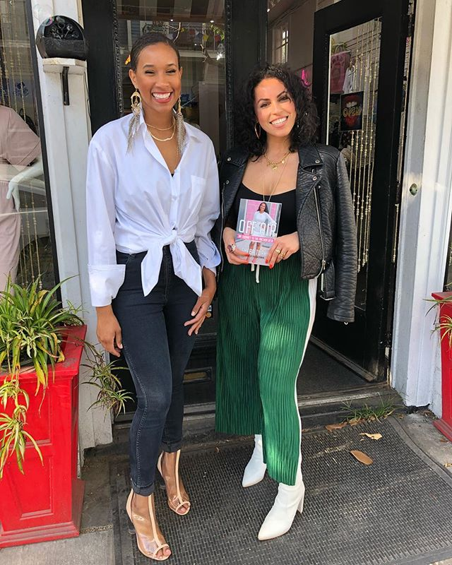 Hanging with the oh sooo stylish @kcharbonnet at @shop_kays 5419 Magazine street! Come get your booked and get it signed! I'm here until 7pm