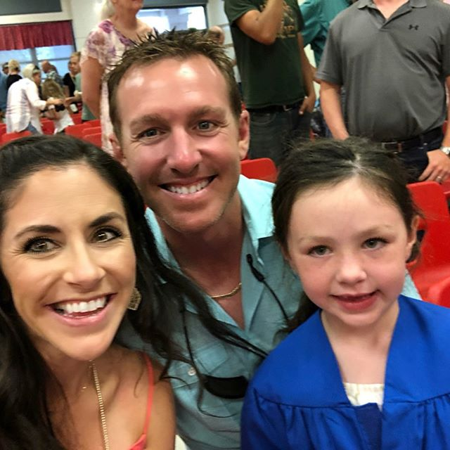 Kindergarten graduation, she did it! I think she may think they get to graduate every year now😂🙄 such cuties!