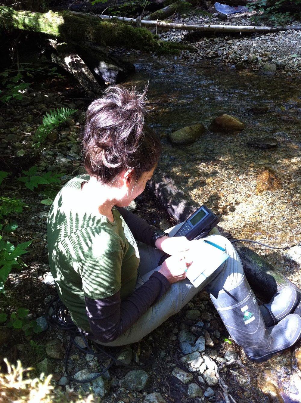 Measuring nutrient uptake in beautiful British Columbia, summer 2012
