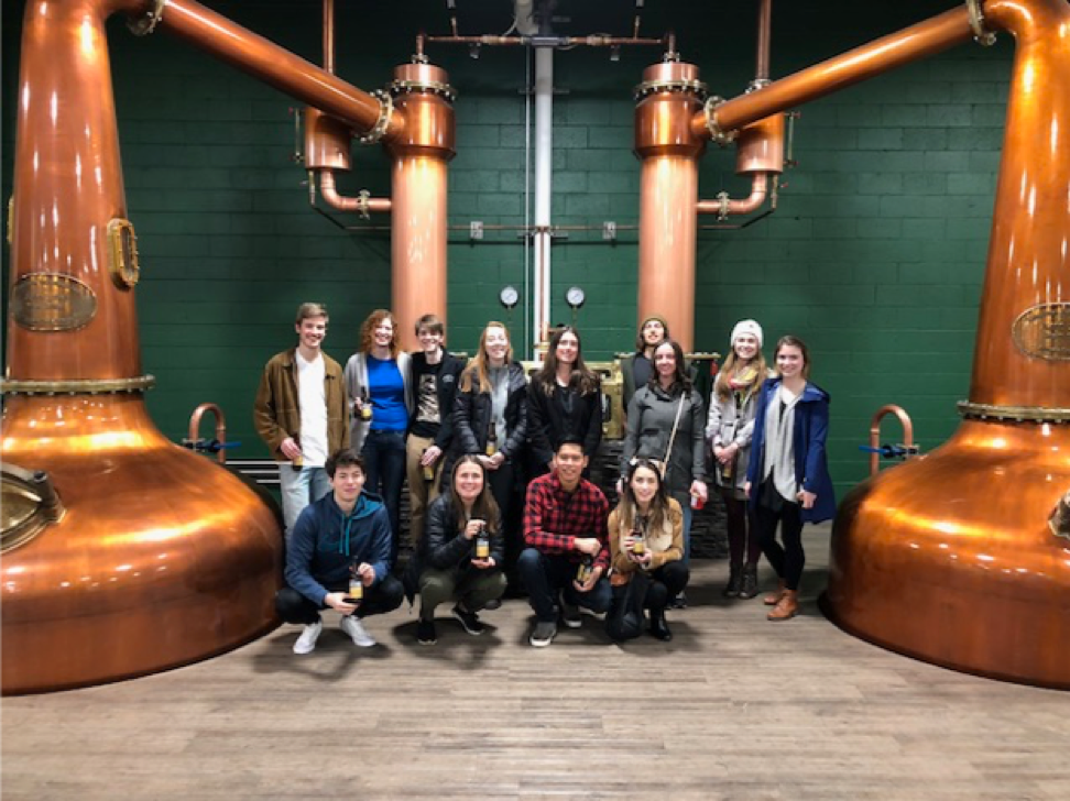 Dr. Willerth with her lab on an outing to Victoria Caledonian Distillery