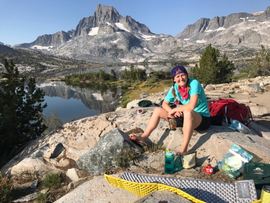 Dr. Malone while backpacking in the Sierra Nevada Mountains, California. Pic courtesy: Amanda Malone