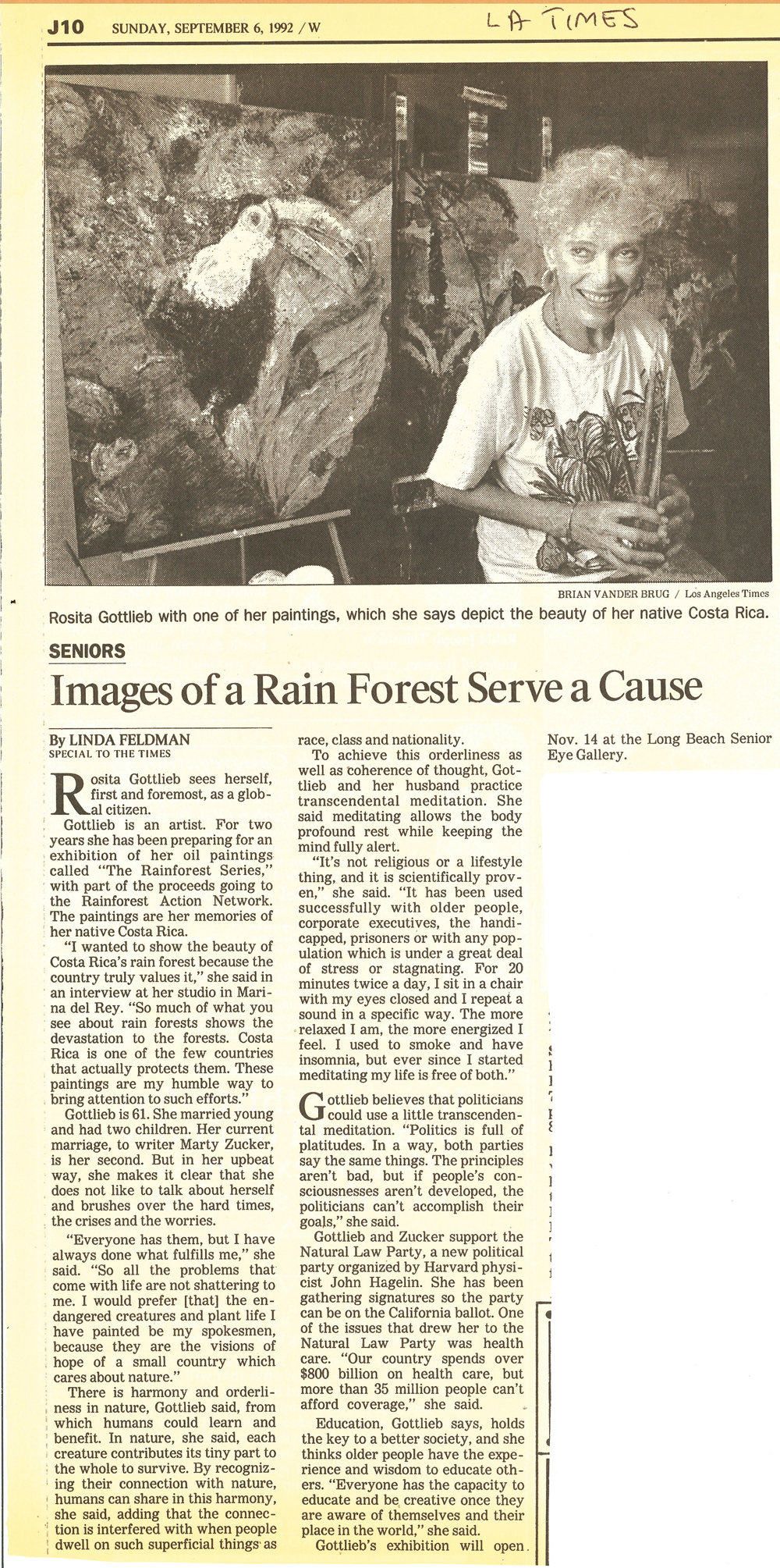Los Angeles Times - September 1992