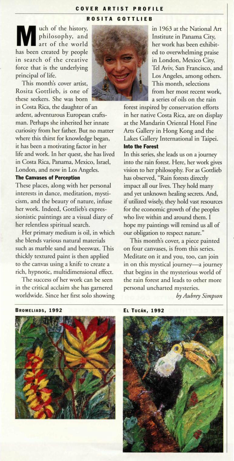 United Airlines' Hemispheres Magazine - May 1994 - Article