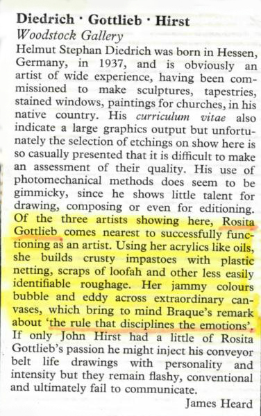 London Arts Review - 1973