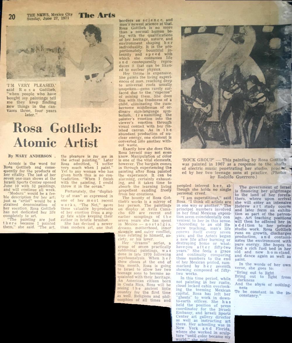 """""""Atomic Rosa"""" Mexico City News 1971"""