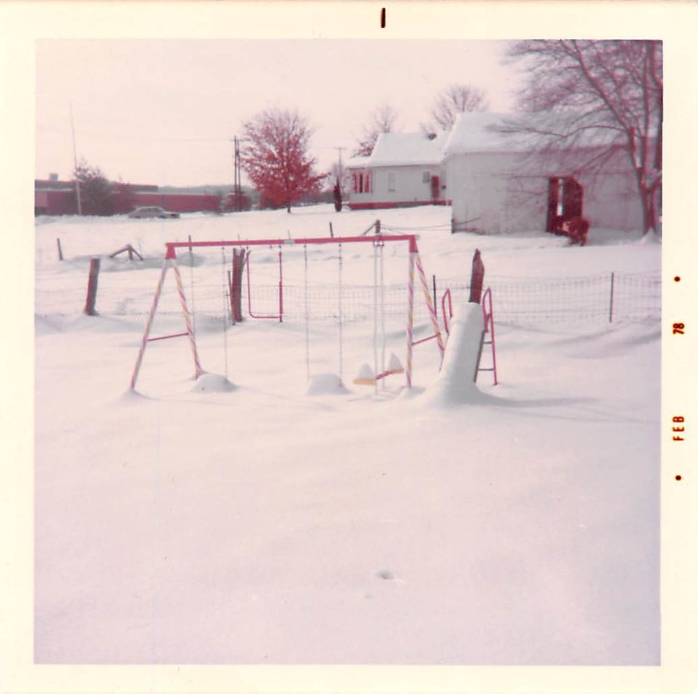 1978 snowfall in Culloden, West Virginia (where I grew up)