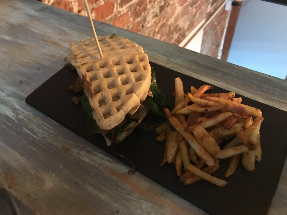 This waffle sandwich at Vegamo was as delicious as it looks