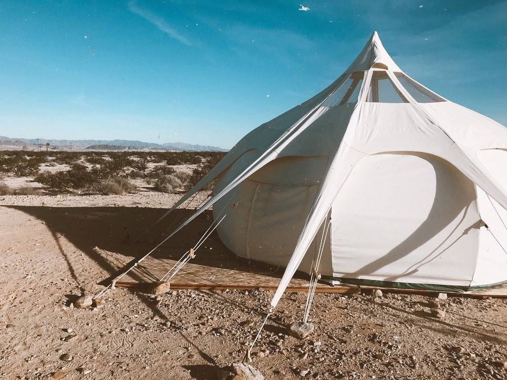 Glamping in Twnetynine Palms