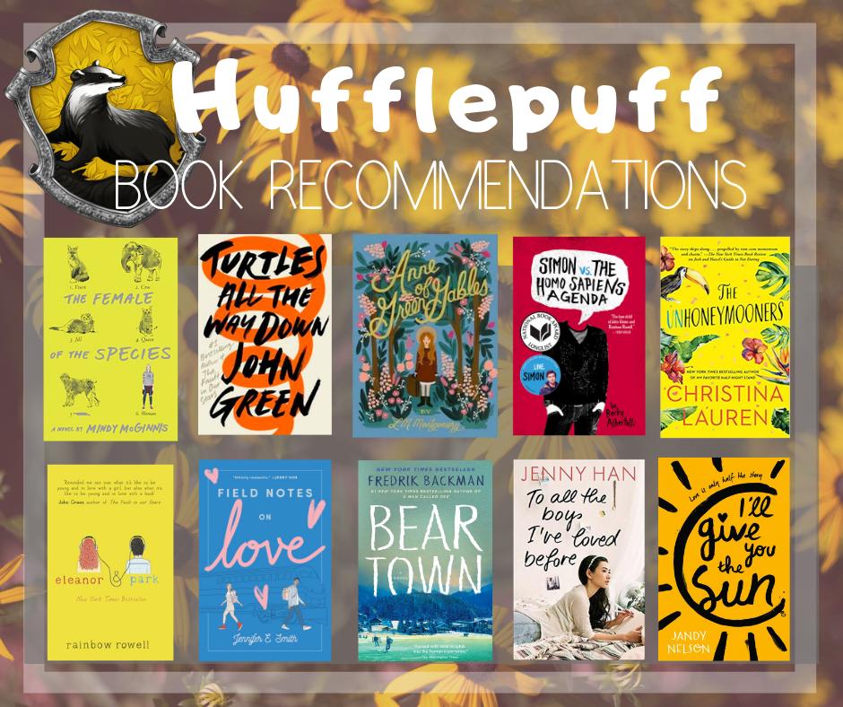 Hufflepuff book recs!