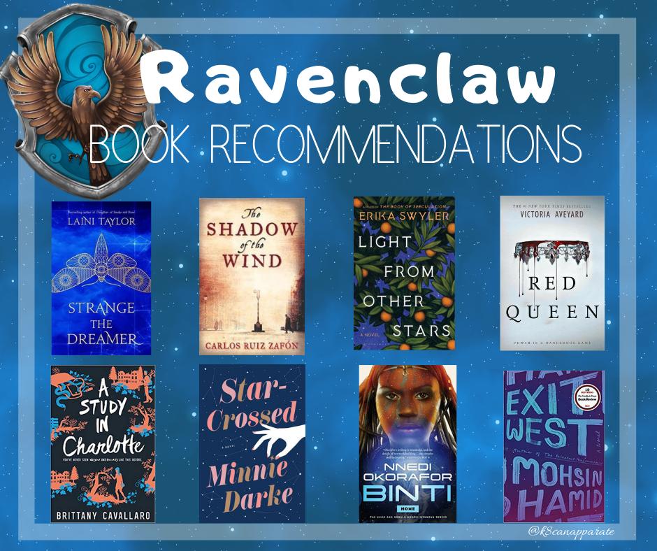 Ravenclaw book recs!
