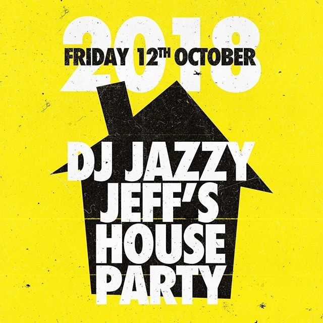 ☀️🕒 Tickets are selling fast! Grab yours before the prices go up 🤙  This October, join the worlds greatest DJ, the one and only DJ Jazzy Jeff as he steps up and hosts his very own House Party at the iconic Electric Brixton.