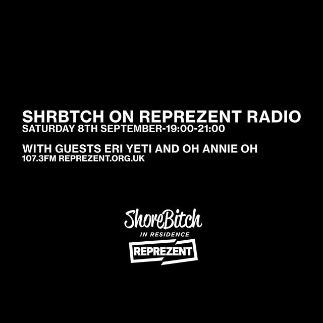This weeks guests are @eri_yeti & @ohannieoh  Catch us live on @reprezentradio this Saturday 19:00-21:00 / 107.3FM REPREZENT.ORG.UK