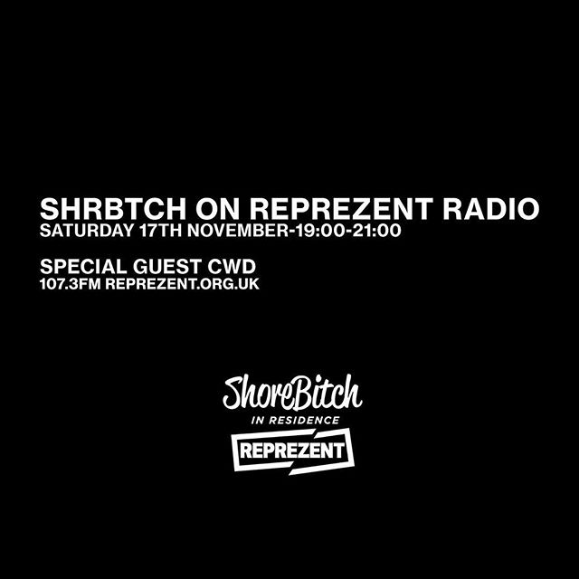 We're back on @reprezentradio this Saturday with @djcwd rolling through ahead of our show with @shorelinemafia on 30th Nov at @scalaldn 📷 @rillaparty