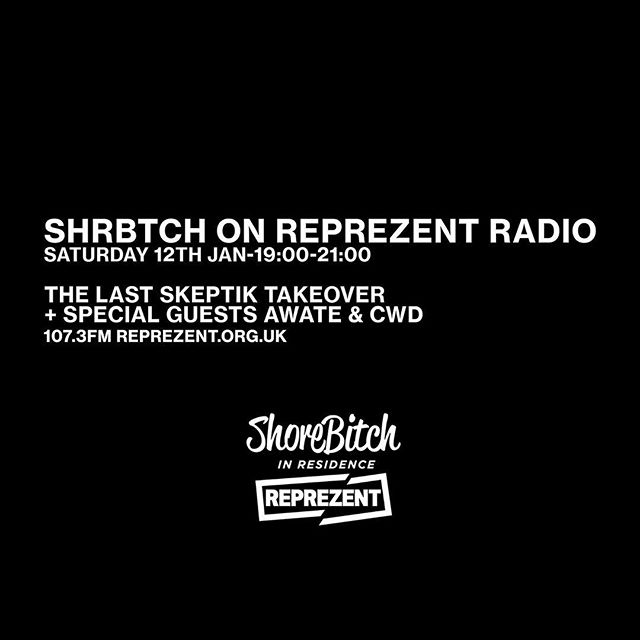 Man like @thelastskeptik joins us for a 60 minute takeover on @reprezentradio tonight with guests @awatemusic & @djcwd passing through.  107.3FM REPREZENT.ORG.UK 💪💪