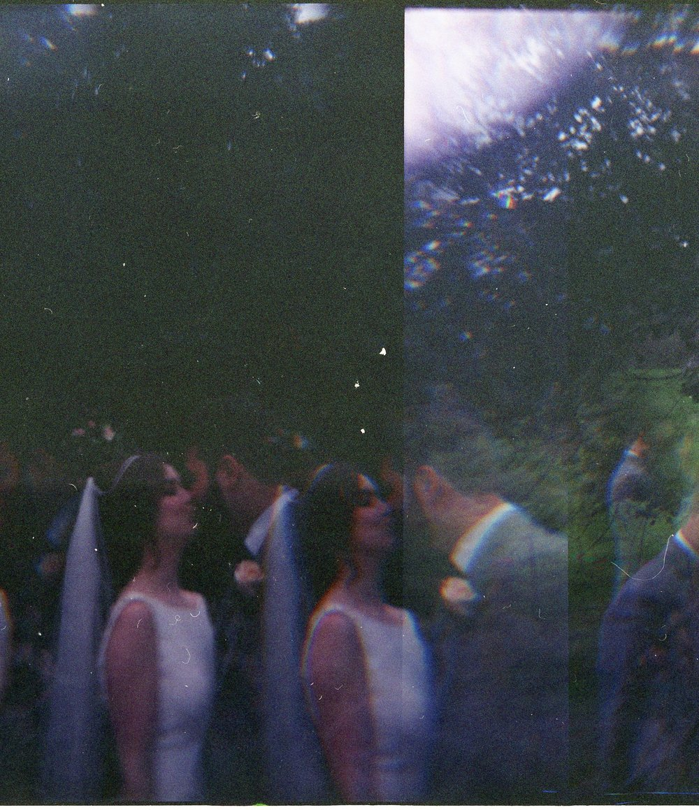 A holga prism experiment at Glenn and Olivia's wedding