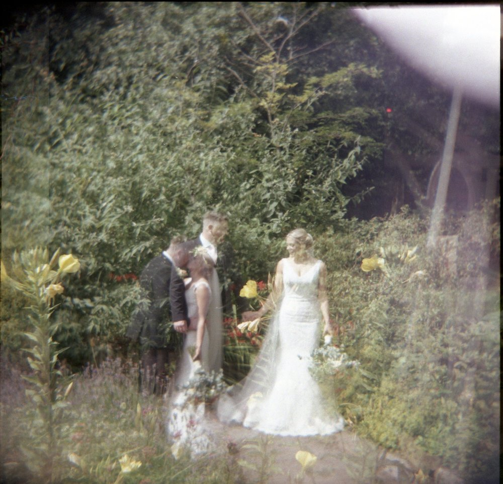 Jess and James at Ashton Memorial Lancaster taken with Holga camera