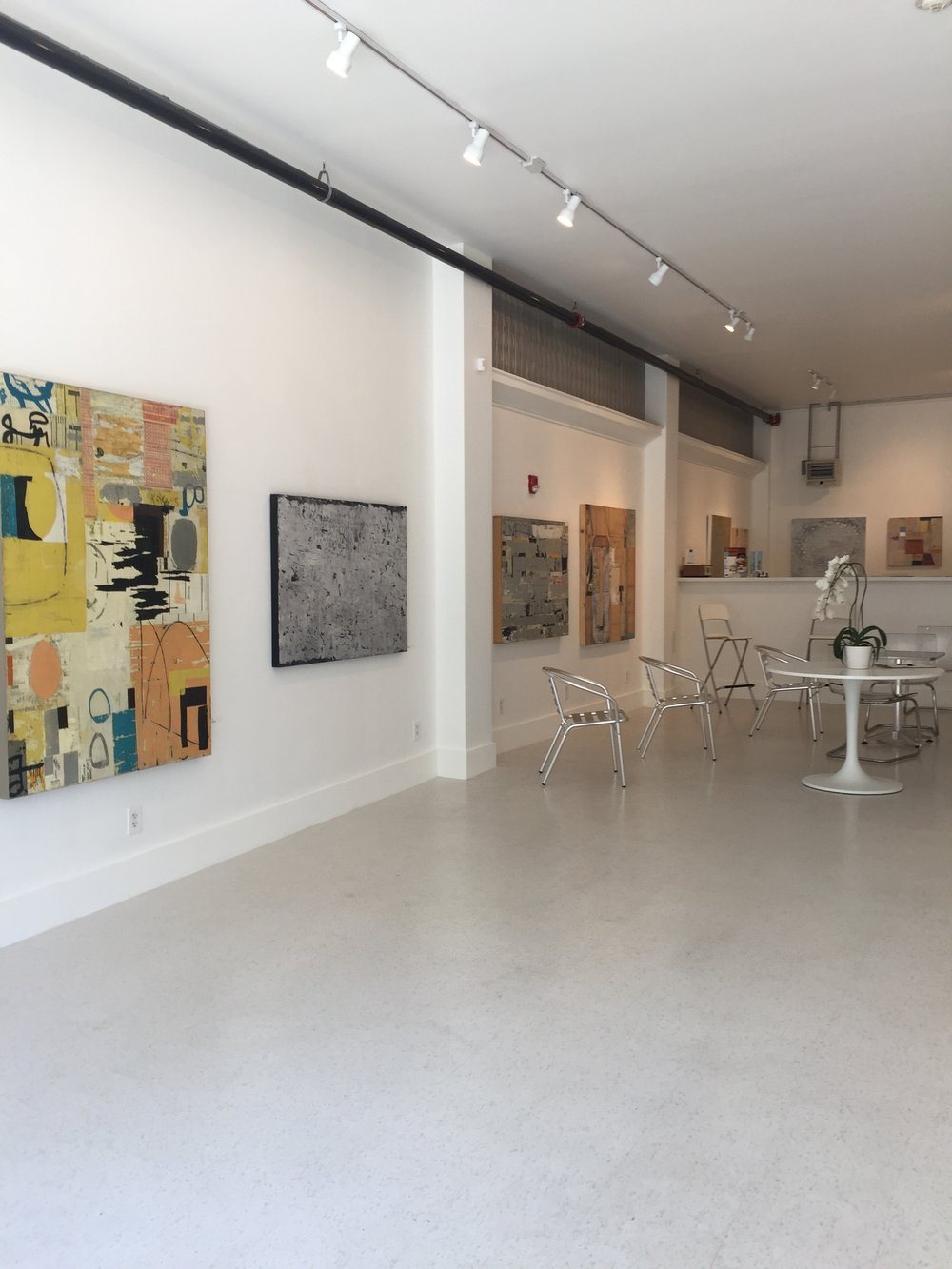 The main gallery space, plenty of room for your tables, chairs and whatever is needed.