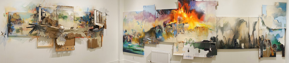 Click to Enlarge.  Installation view:   Our Changing Landscape  , Jen Tough Gallery, 2017