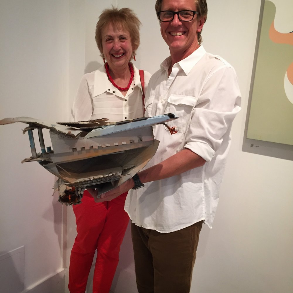 Jeff Snell with a happy collector, 2017