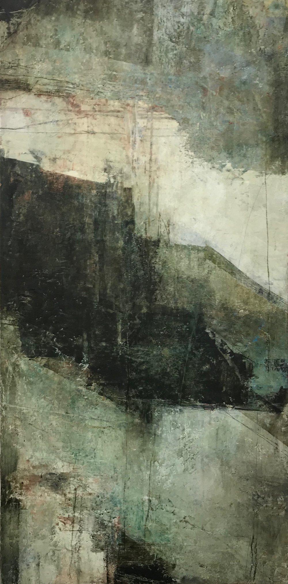 My Ireland,   oil on cradled panel, 48x24, 2018