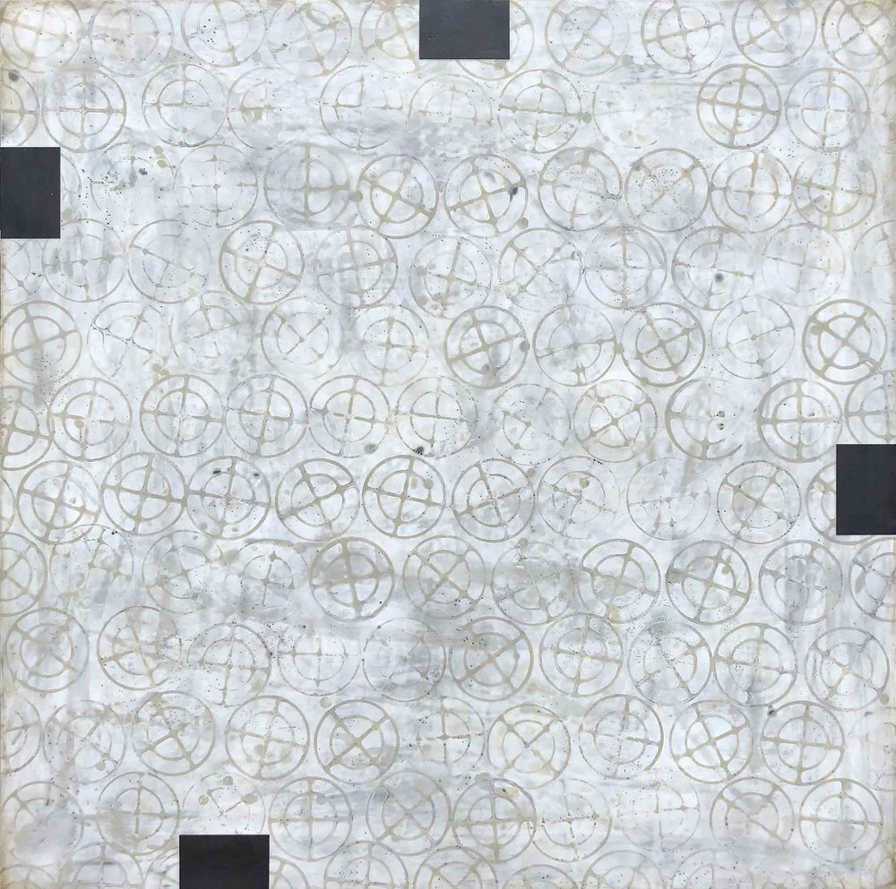 Susan Stover: In The Absence, encaustic on panel, 32x32