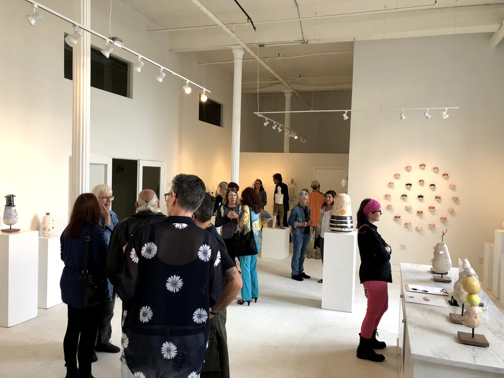 Opening reception for Suzanne Long's You and Your Big Ideas, April, 2018