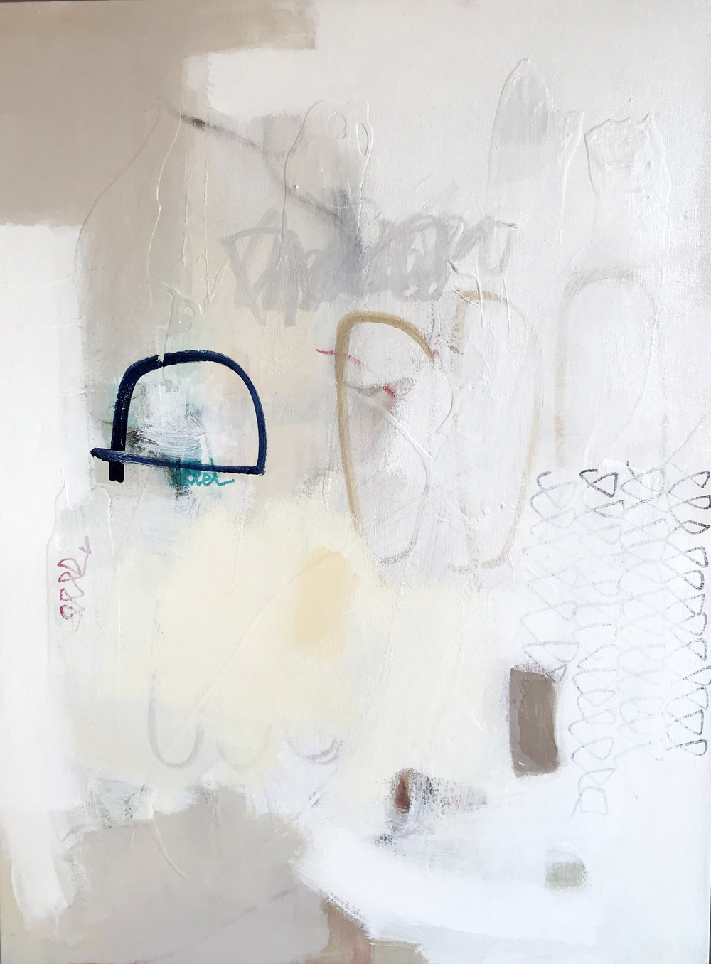 White Out  , mixed media on canvas, 40x30, 2018, $2700