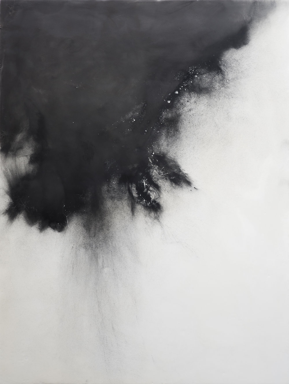 "Evanessence 6  , graphite and wax on cradled panel, 30"" x 40"", 2018"
