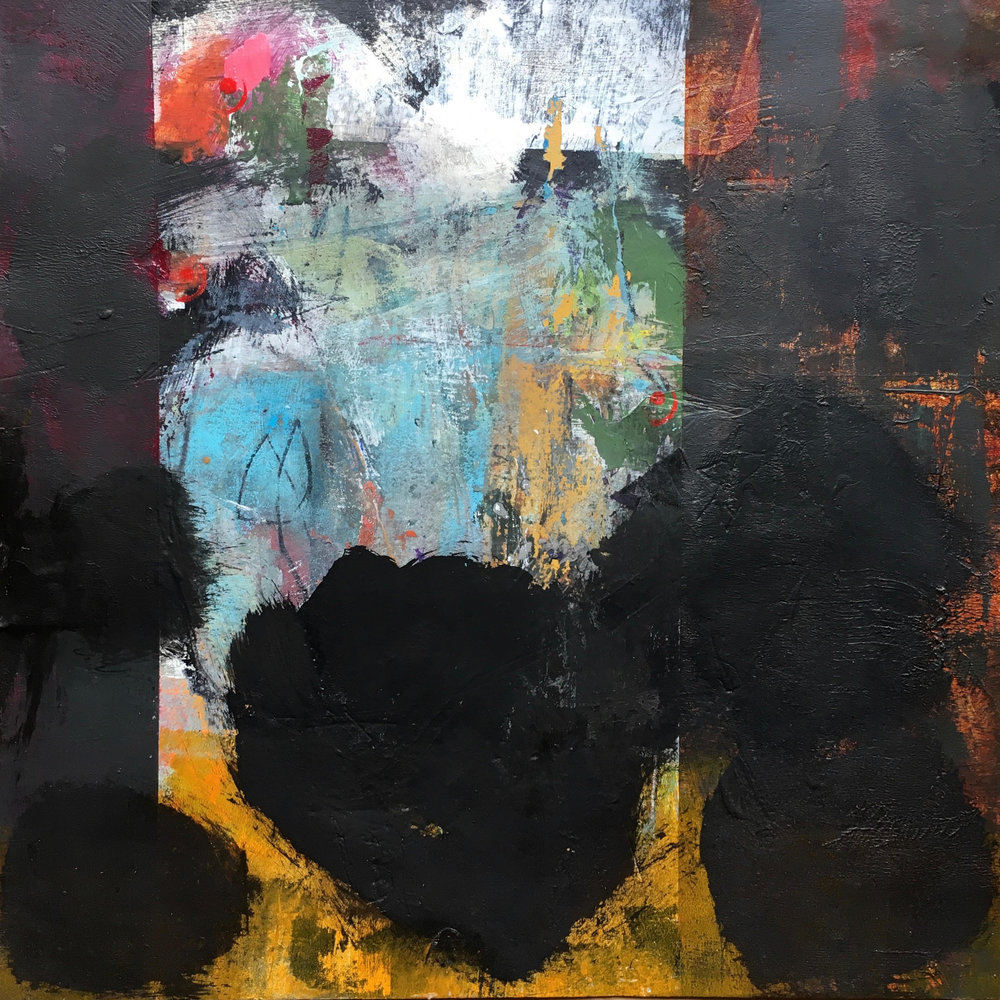 Sounding,   paint on paper, 10 x 10, 2018