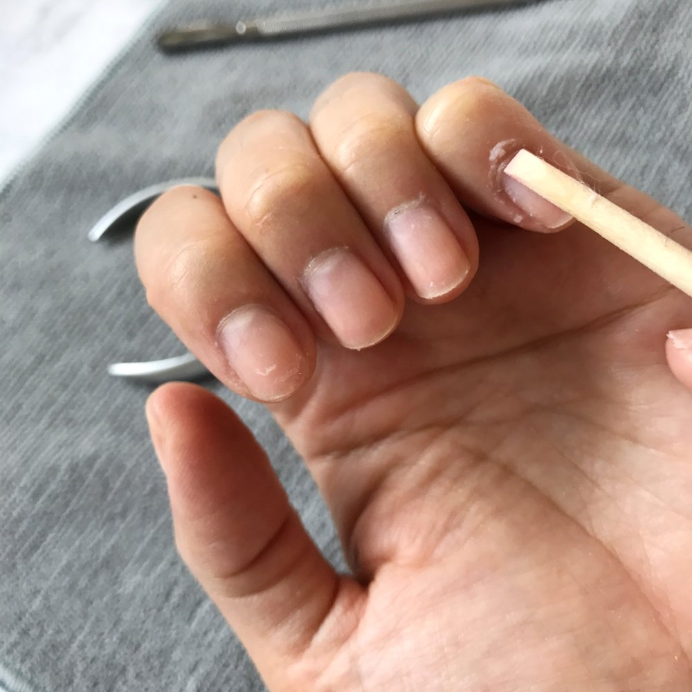 Be gentle when pushing back your cuticles!