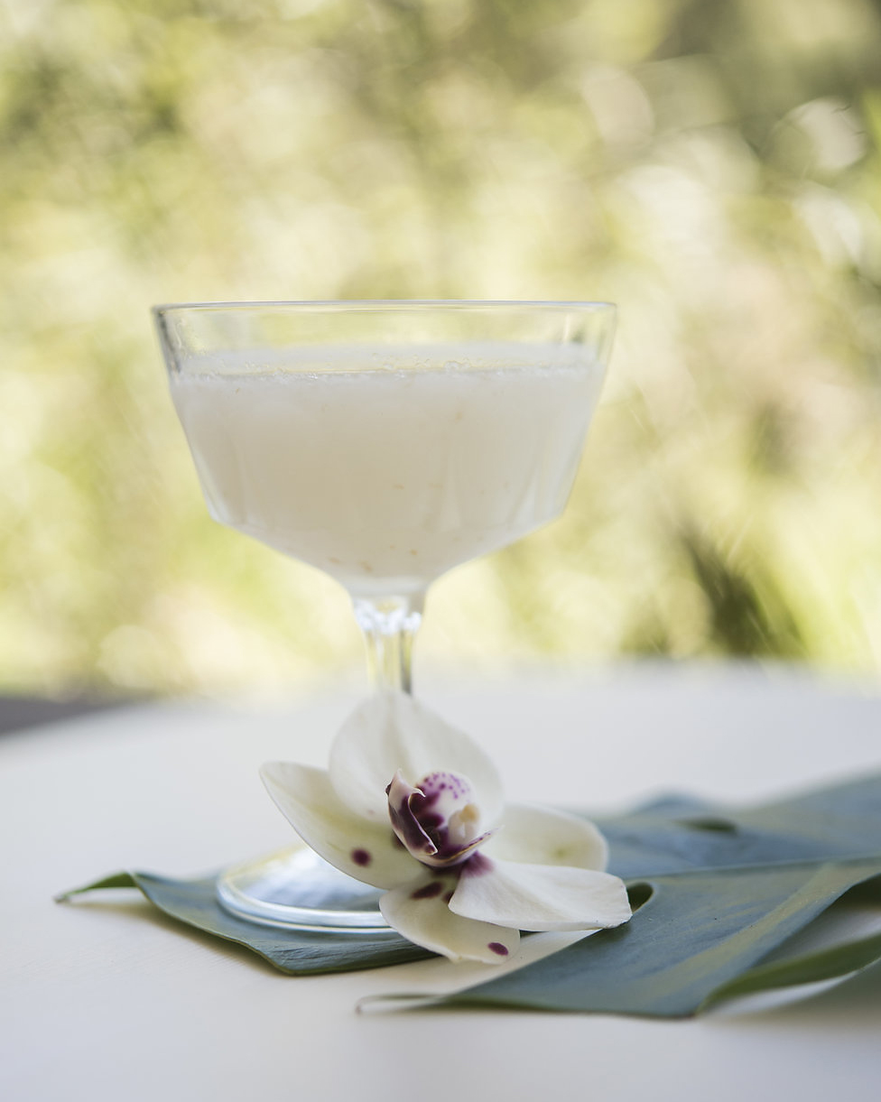 WHITE ORCHID   fresh pressed lychee and lemon, St. Germaine, vodka