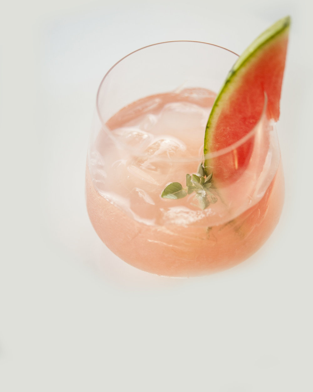 SUMMER SCHOOLED   garden basil, fresh pressed watermelon and lime, simple syrup, white rum