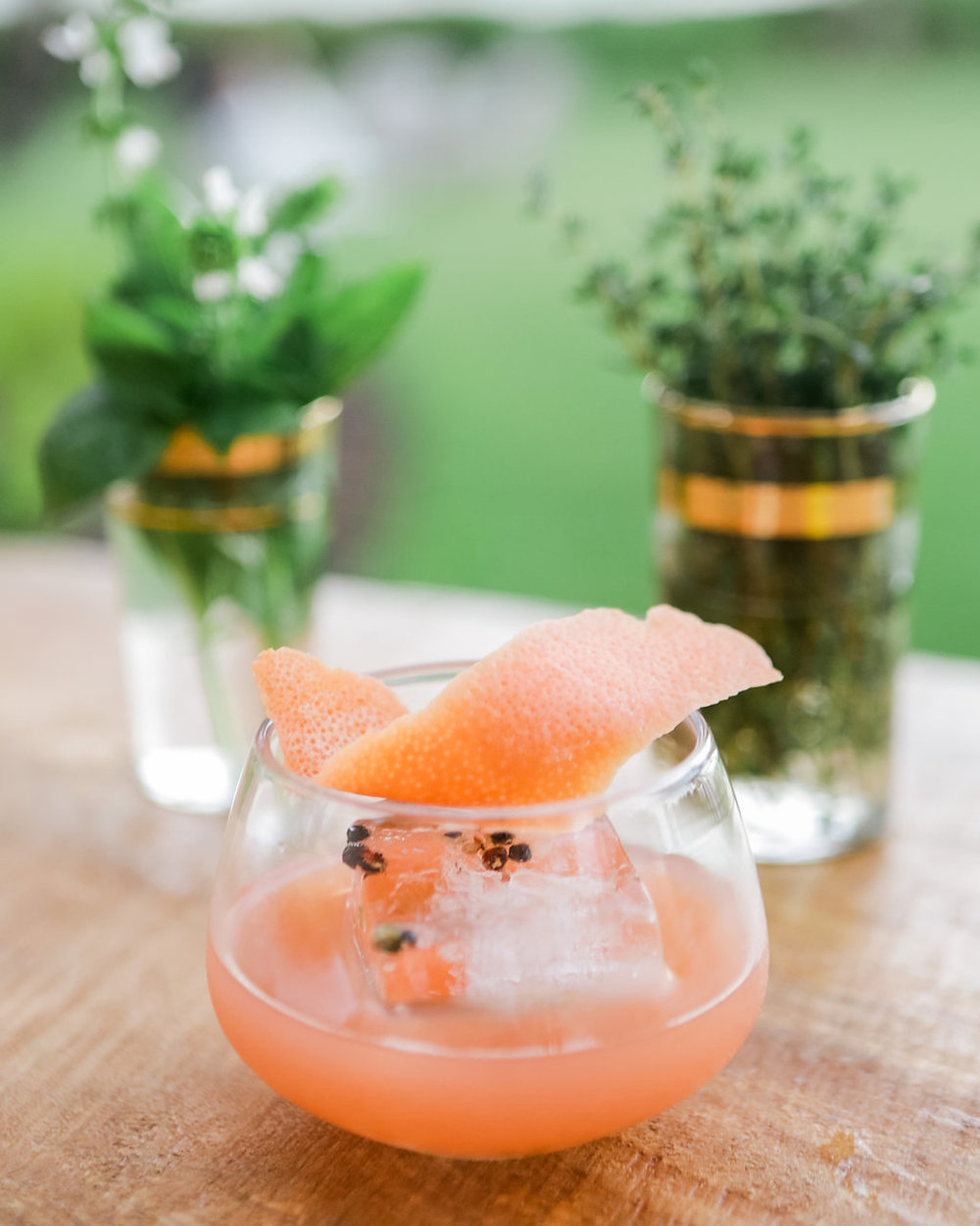 SOLSTICE   fresh pressed grapefruit and lime, house Hawaiian chili pepper syrup, cayenne sea salt mist, peppercorn ice, reposado tequila