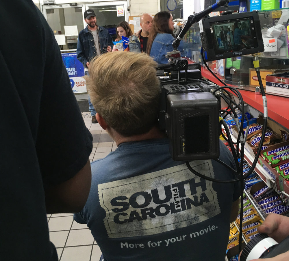 Camera Operator Owen Hamilton on the Columbia, SC, set of BLOOD SPOOK.